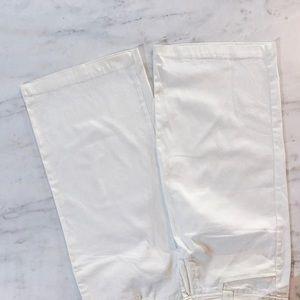 Candie's Pants - White Cropped Capri Pants